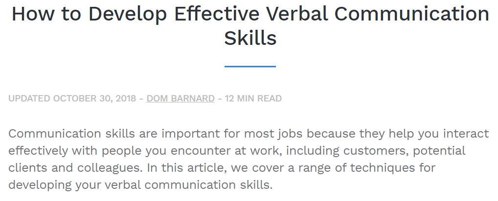 How to Develop Effective Verbal Communication Skil